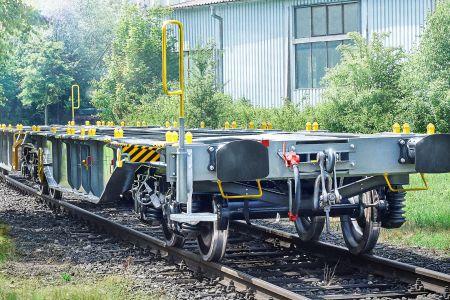 Produktion von Güterwagen